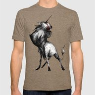 The Unicorn Mens Fitted Tee Tri-Coffee SMALL
