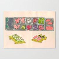 Sushi Doodle! Canvas Print