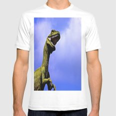 Aruba's T-Rex Mens Fitted Tee SMALL White