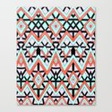 Geometric Mountains Canvas Print