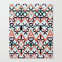 Geometric Mountains Canvas Print