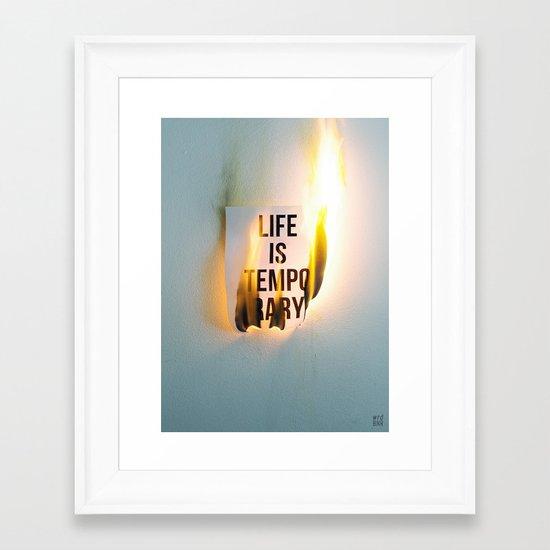 Temporary Framed Art Print