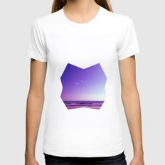 Seascape I Womens Fitted Tee White SMALL