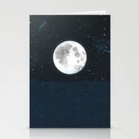 Blue Moonscape Stationery Cards