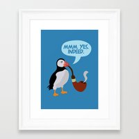 puffin' Framed Art Print