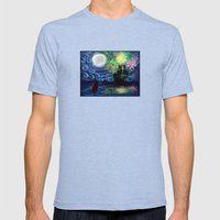 Part Of That World Mens Fitted Tee Tri-Blue SMALL