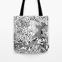 snow interference Tote Bag
