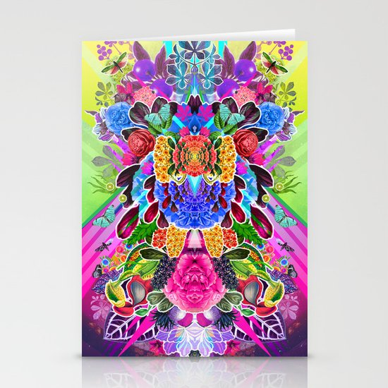 Flower Explosion  Stationery Card