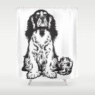 Innocent Dog Shower Curtain