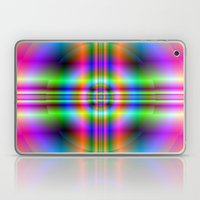 Neon Cross In Circle Laptop & iPad Skin