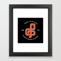 Giants World Series Celebration print Framed Art Print