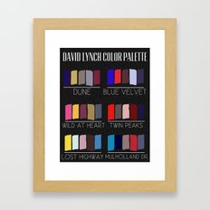 David Lynch Color Palette Framed Art Print