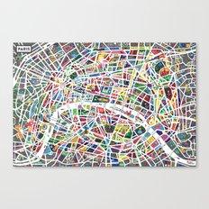A map of Paris Canvas Print