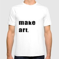 Make Art. Mens Fitted Tee White SMALL