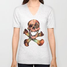 Skull in Color Unisex V-Neck