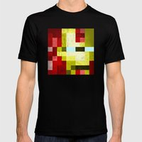 battle-damaged iron man Mens Fitted Tee Black SMALL