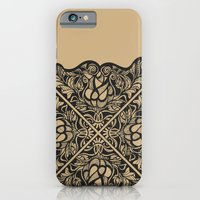 Black Lotus Lace Illustration Pattern iPhone 6 Slim Case