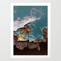 Teal Peel II Art Print