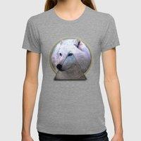 WOLF Womens Fitted Tee Tri-Grey SMALL