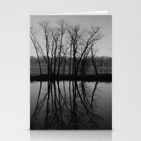Mississippi mirror Stationery Cards