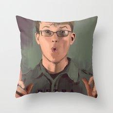 Good Morning John Throw Pillow