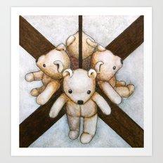 MIRROR BEAR Art Print