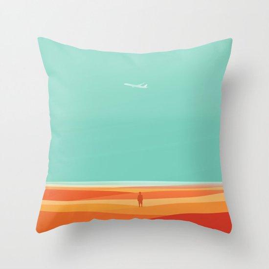 Where the sea meets the sky Throw Pillow