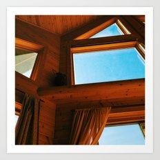 Cabin Interior Windows Art Print
