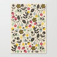 Canvas Print featuring Very Berry by Poppy & Red