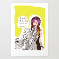 Barf! Art Print