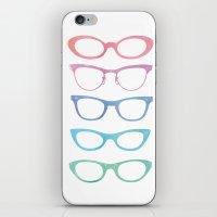 Colorful Vintage Sunglas… iPhone & iPod Skin