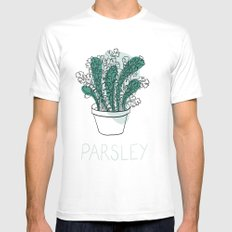 Parsley Mens Fitted Tee White SMALL