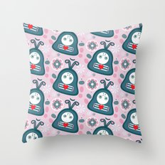 Funny bugs in love Throw Pillow