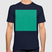 Tribal In Teal Green Mens Fitted Tee Navy SMALL
