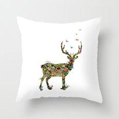 My Dear Deer Throw Pillow
