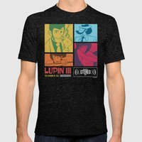 Lupin III Jazz Record Mens Fitted Tee Tri-Black SMALL