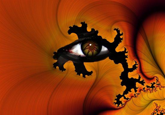 Firey Eye Art Print