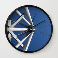 Sky And Steel Wall Clock