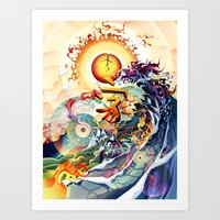 Japan Earthquake 11-03-2… Art Print