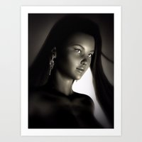 China Girl Portrait Art Print