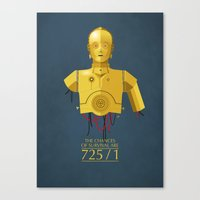 Never Tell Me The Odds (… Canvas Print