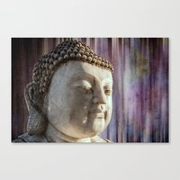 Buddha purple Canvas Print