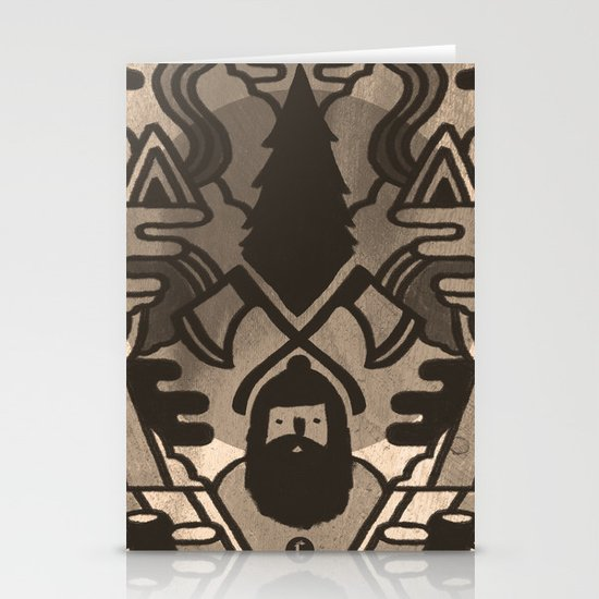 Lumberjack Stationery Card