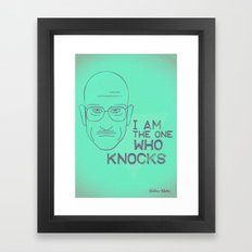 Breaking Bad - Faces - Walter White Framed Art Print