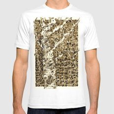 Autumn Aspen Mens Fitted Tee White SMALL