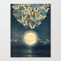 The Rising Moon  Canvas Print