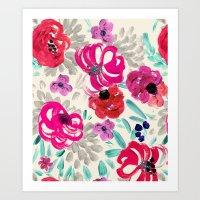 Mona Floral Art Print