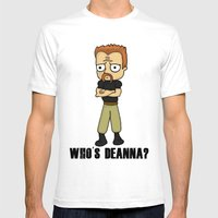 Who's Deanna? Mens Fitted Tee White SMALL