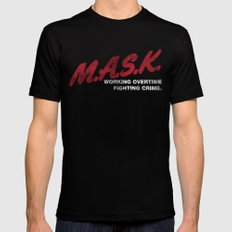M.A.S.K. Black SMALL Mens Fitted Tee