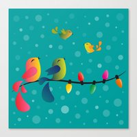 Fly High, My Babies - Merry Christmas Canvas Print
